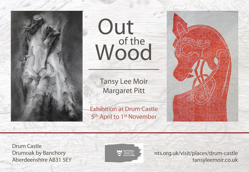 Out of the Wood exhibition flyer