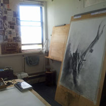 big drawing in the studio