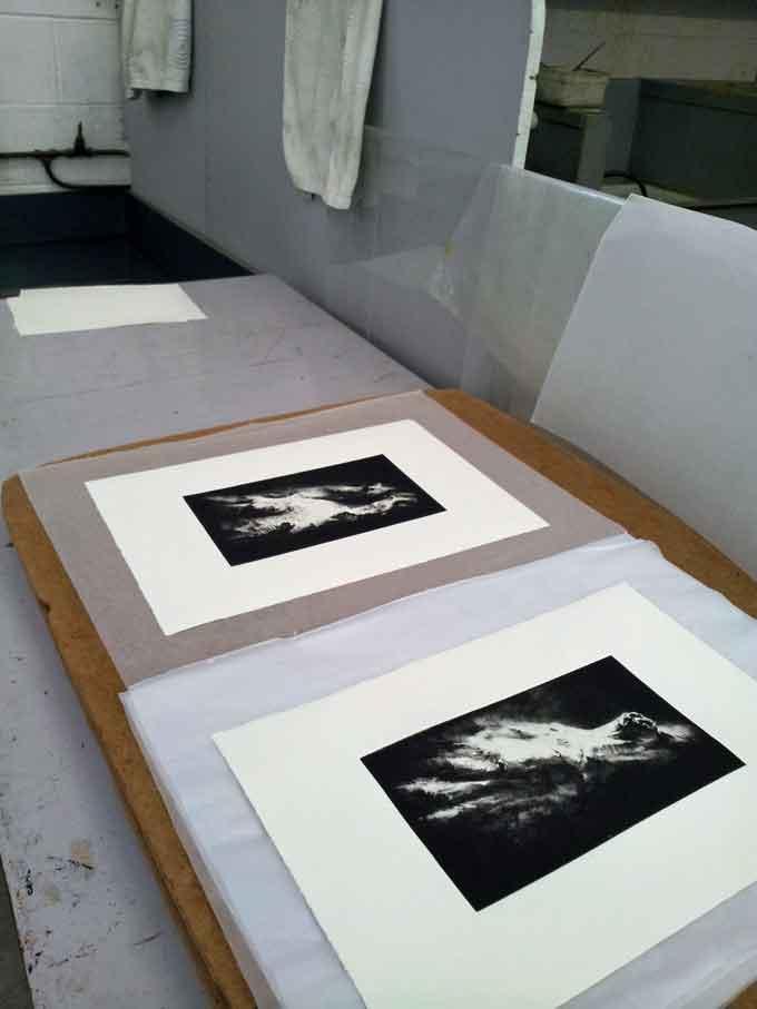 prints-drying