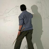 wall drawing of tree