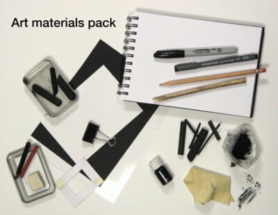 art materials for Permission to draw course