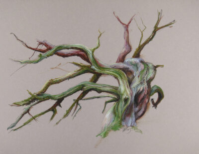 pastel painting of a tree for sale