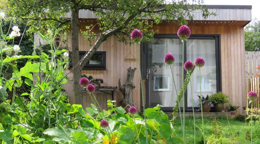 Tansy Lee Moir studio in the garden