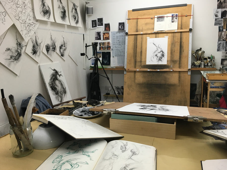 inside Tansy Lee Moirs studio